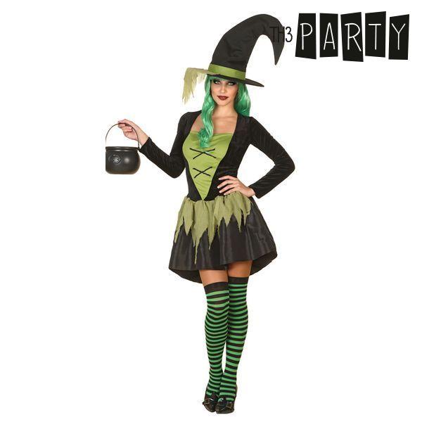 Kostume til voksne Heks Grøn