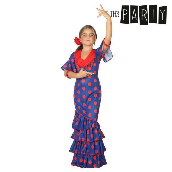 Kostume til børn Flamenco danser Blå