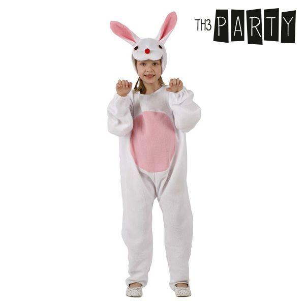 Kostume til børn Kanin Hvid