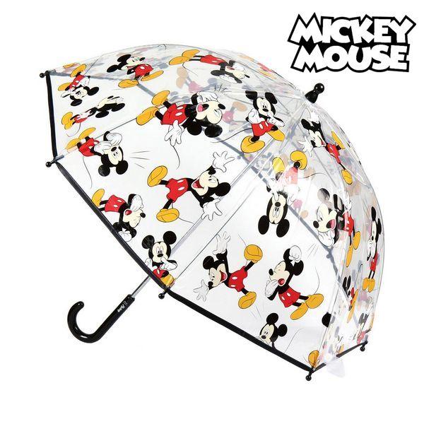 Bobleparaply Mickey Mouse Gennemsigtig (ø 45 cm)