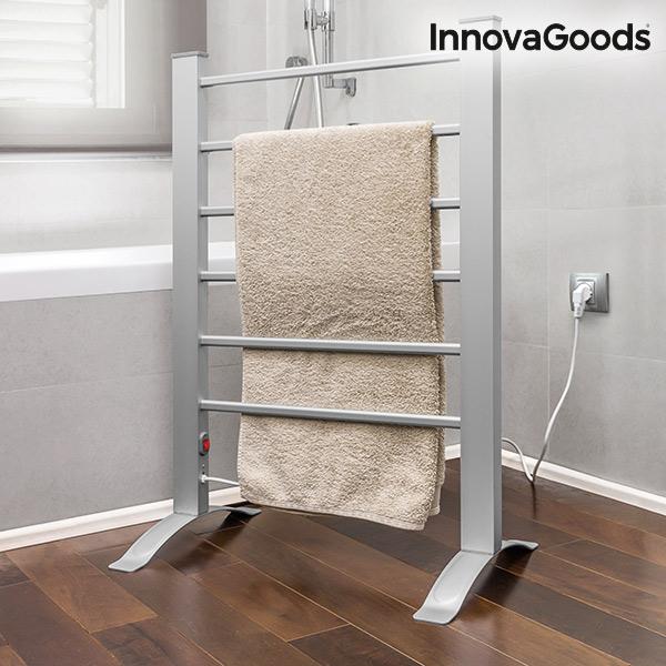 InnovaGoods 90W Gråt Elektrisk Håndklædestativ (6 Stænger)