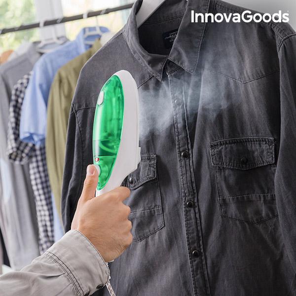 InnovaGoods Lodret Dampstrygejern 1000W Hvid Grøn