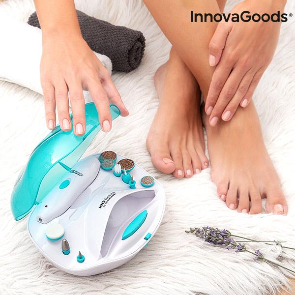 InnovaGoods Sæt med Manicure og Pedicure Neglesalon til Hjemmet