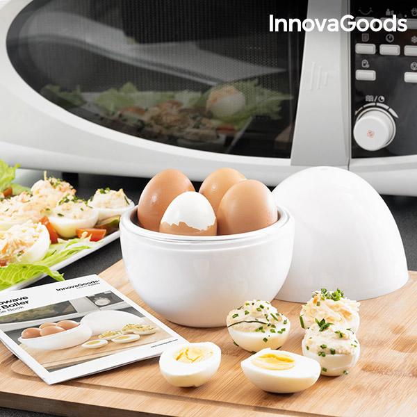 InnovaGoods Boilegg mikrobølge-æggekoger med opskrifthæfte