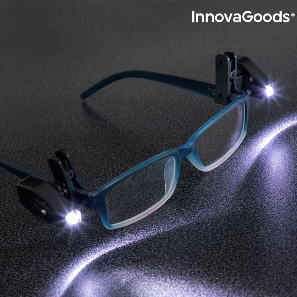 InnovaGoods 360º LED Clips til Briller (Pakke med 2)