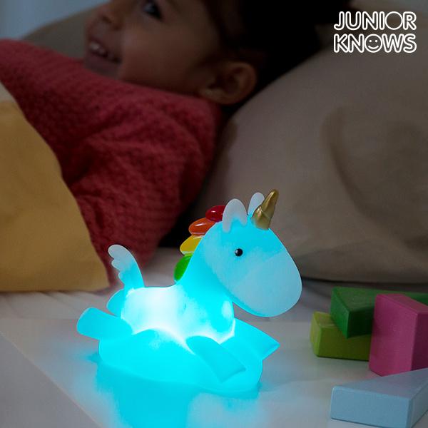 Enhjørning Natlampe LED Multifarvet Junior Knows