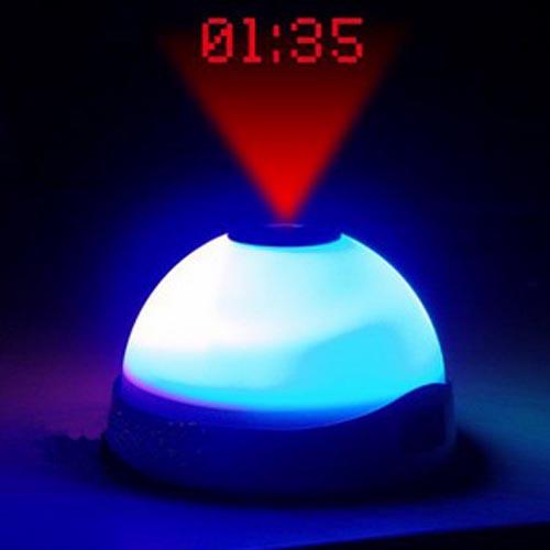 Vækkeur med LED-lys og Projektor